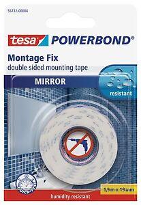 Tesa Double Sided Mirror Mounting Tape 19mm X 1 5m Ebay