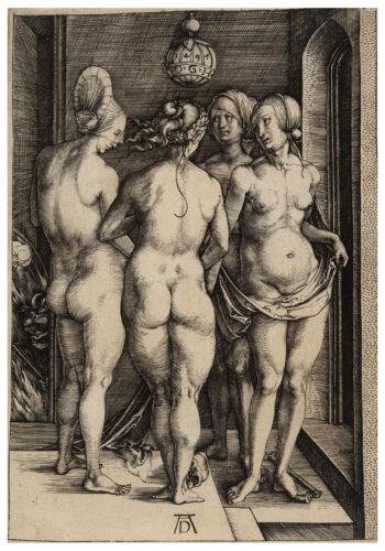 Four Naked Women Albrecht Dürer Durer engraving ca.1497