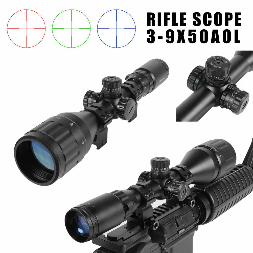 3-9X50AOL Mil Dot Air Rifle Deer Night Vision Hunting Scope Airsoft Telescope