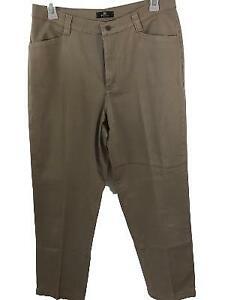 LEE-khakis-size-16M-pants-16-4-pockets-some-stretch-tan-womens
