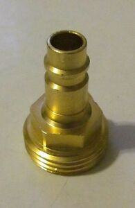 "Brass Quick Connect Adapter 3/4"" Garden Hose Spray Port Outlet & Spray Away"