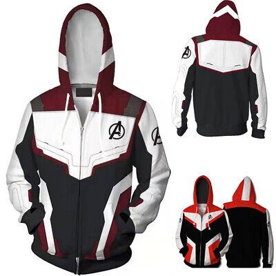 New Avengers Endgame Quantum Realm Zipper Coat Hoodie Jacket Sweatshirt Sweater
