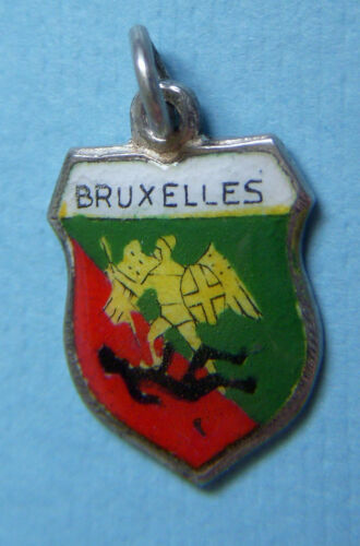 Vintage Bruxelles Brussels Belgium shield silver c