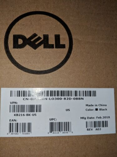 Dell Keyboard KB216 with Dell Mouse MS116 Lot of 10 Sets *New In Box*
