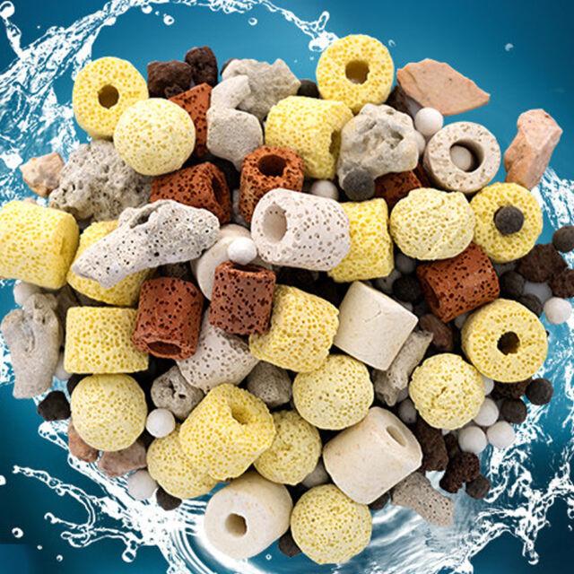 Aquarium Fish Tank Filter Media Activated Carbon Ceramic Ring Biological Ball