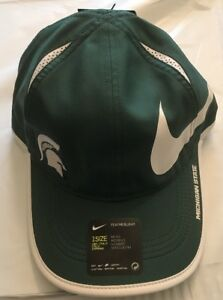 Image is loading Michigan-State-Spartans-Nike-NCAA-Big-Swoosh-Adjustable- 4f060d4bc00d