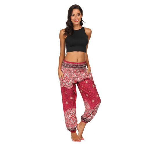 Women/'s Ali Baba Harem Trousers Aladdin Long Pants Yoga Hippie Loose Leggings