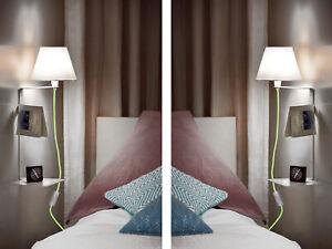Wandlampe-Schlafzimmer-mit-Ablage-mit-Schalter-Nachttischlampe-Regal-Lampe-gruen