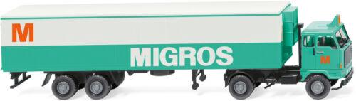 """/""""Mogros/"""" WIKING 054301 NEU in OVP Kühlkoffersattelzug Volvo F89 H0 1:87"""