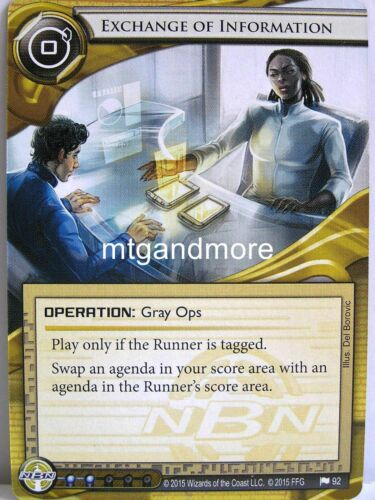 1x #092 Exchange of Information The Liberated Mind Android Netrunner LCG