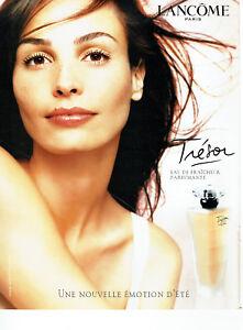 Publicité Advertising 108  2002    parfum  Trésor par Lancome avec Inès Sastre