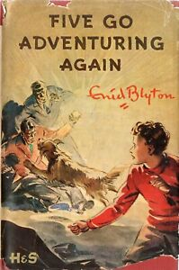 ENID-BLYTON-FAMOUS-FIVE-GO-ADVENTURING-AGAIN-VINTAGE-HARDBACK-1955-WITH-DW-DJ