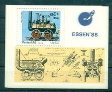 ANTICHI TRENI - TRAINS LAOS 1988 block
