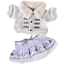 SILVER-WHITE-WINTER-OUTFIT-TEDDY-BEAR-CLOTHES-FITS-16-034-40cm-BUILD-A-TEDDY-BEAR thumbnail 2
