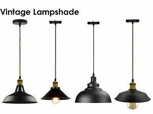 Modern Black Loft Vintage Industrial, Modern Lamp Shades Uk