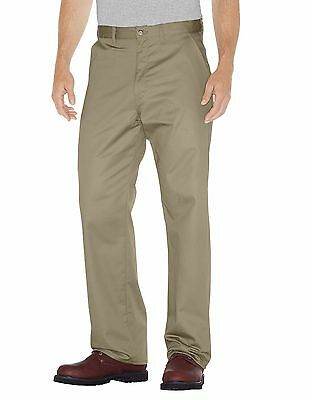 DICKIES Mens WP314 Black Premium Cotton Flat Front Pant Unifrom Work wear
