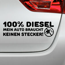 Autoaufkleber 100 Diesel Fun Spruch Auto Tuning Sticker