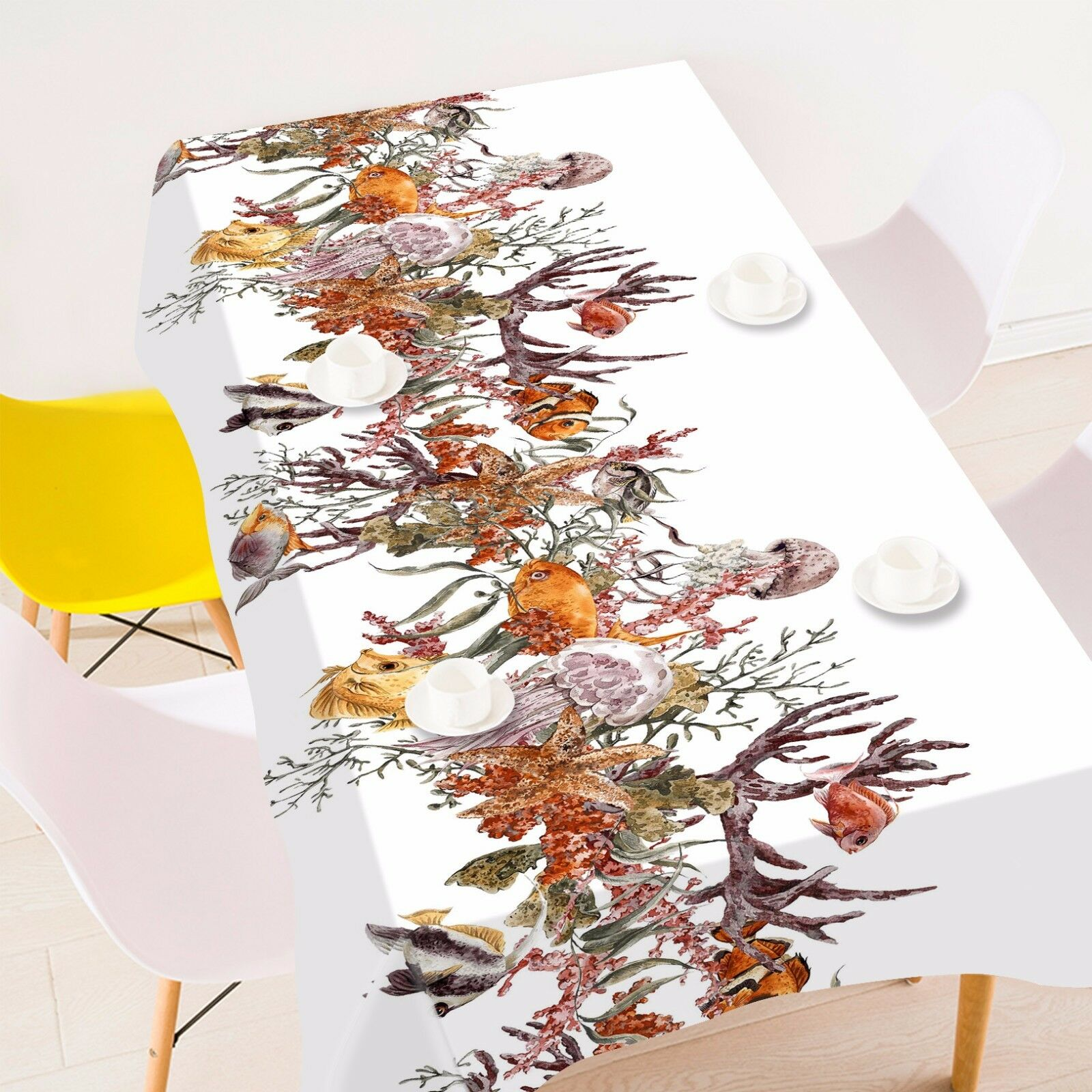 3D Tree fish81 Tablecloth Table Cover Cloth Birthday Party Event AJ WALLPAPER AU