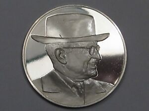Franklin Mint STERLING SILVER Mini-Ingot 1947 Truman Doctrine Contains Soviets