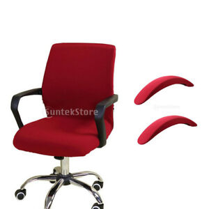 Elastic Computer Chair Cover Removable Seat Slipcover With Armrest