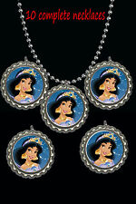 jasmine alladin disney princess lot of 10 necklaces necklace party favors