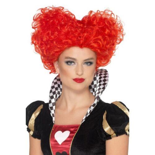 Queen Of Hearts Wig Ladies Red Fairytale Book Week Fancy Dress Wig