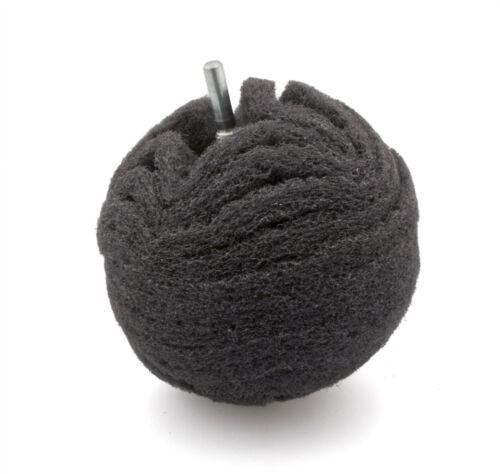"4/"" flexipads ~ 100mm Schleifball Schleifkugel grau ultra fein"