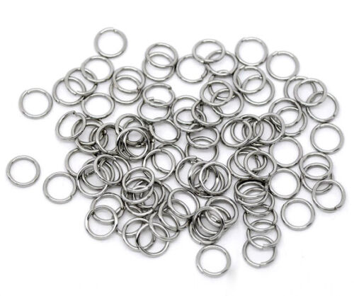 Findings Wholesale Lots Stainless Steel Open Jump Rings 8mm Dia