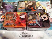 Naruto CCG/ TCG Fierce Ambition Tins - Set of all 3 tins! Kakashi Sasuke
