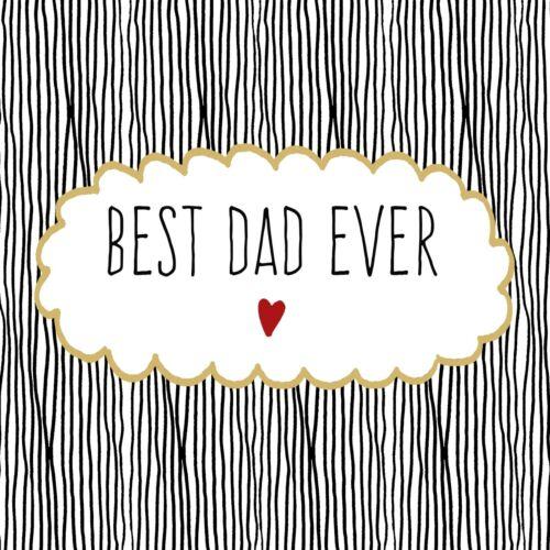 20 Papierservietten Servietten BEST DAD EVER ppd Paperproducts Design