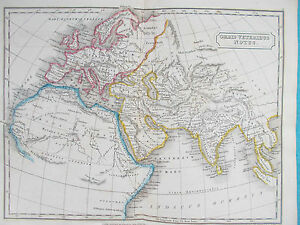 Ancient Roman Map Of The World.Map Of Ancient World 1826 Orbis Notus Roman Butler Ebay
