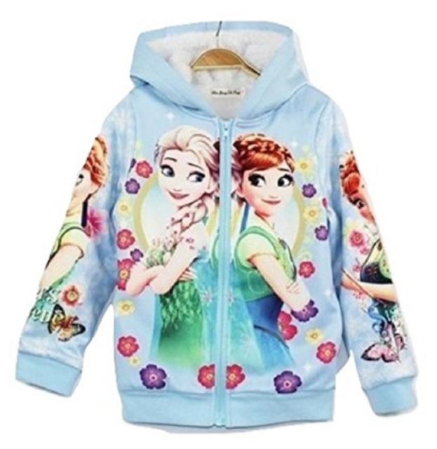 Disney Frozen Elsa /& Anna Fleece Sweatshirt Toddlers Girls Sizes NWT