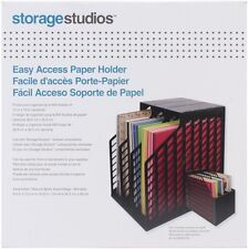 "Black Easy Access Paper Holder - Storage Studios 600 Sheets 12""x 12"" Cardstock"
