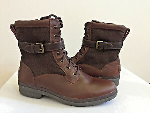 31389d430ccf Image is loading UGG-KESEY-CHESTNUT-BROWN-WATERPROOF-SHEARLING-LINED-BOOT-