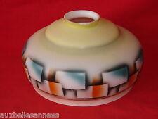 ANCIEN ABAT JOUR / MONTE ET BAISSE LUSTRE SUSPENSION LUMINAIRE LAMPE OPALINE
