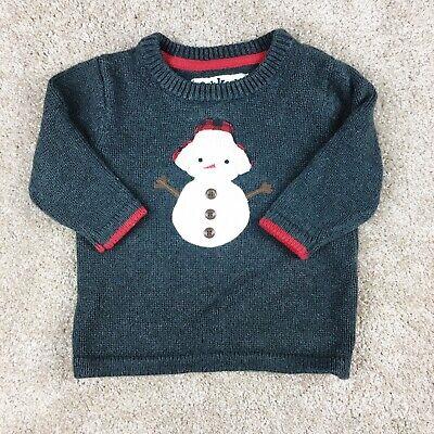 Koala Kids Baby Boys Grey Fairisle Sweater Size - 3 Months