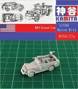 KAMIYA 1//144 WWII USA M3 Scout Car Resin Kit #USA125A
