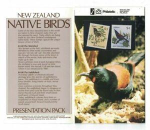 NZ407-New-Zealand-1986-Native-Birds-Presentation-Pack-MUH