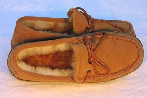 NEW WOMENS LADIES BEST COCOA SHEEPSKIN MOCCASINS SLIPPERS SIZE 5 6 7 8 9 10 N07L