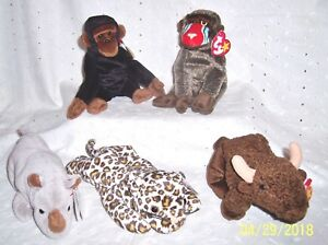 "Ty Beanie Babies 6/"" Baby Babies Plush Bear Dog Cat Fish All Different--U Choose!"