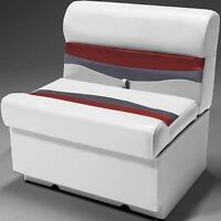 28 Pontoon Boat Bench Seat In Gray, Red And Charcoal