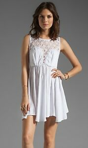 bbd9085a070c4 Image is loading New-118-Free-People-Fiesta-Dress-WHITE-Asymmetrical-