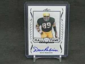 2021 LEAF SIGNATURE SERIES DAVE ROBINSON HALL OF FAME AUTO PACKERS DLNH