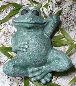 Steinfigur Frosch Teichdeko Gartenfigur Tierfigur Skulptur Gartendeko frostfest