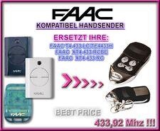 FAAC T4 433 LC, TE4433H, XT4 433 RCBE, XT4 433 RC kompatibel handsender, ERSATZ