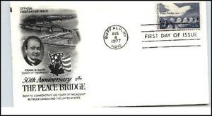 Issue-1977-Cancel-BUFFALO-NY-50th-A-PEACE-BRIGDE-USA