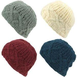 Kleidung & Accessoires Hüte & Mützen Logisch Wolle Gestrickte Beaniemütze Damen Herren Warm Winter Zopfmuster Fleecefutter Buy One Give One