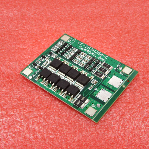 3S 11.1V 12.6V 25A W//Balance 18650 Li-ion Lithium Battery PCB Protection Board