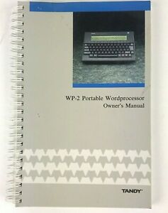 Tandy-WP-2-Portable-Word-Processor-Owner-039-s-Manual