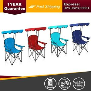Amazing Details About Alpha Camp 350 Lbs Heavy Duty Shade Canopy Chair Folding Camping Chair Theyellowbook Wood Chair Design Ideas Theyellowbookinfo